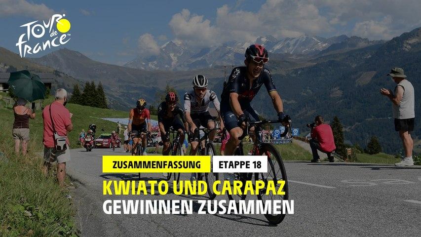 #TDF2020 - Etappe 18 - Kwiato & Carapaz gewinnen zusammen