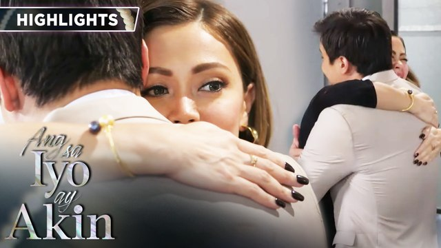 Marissa and Gabriel share a celebratory hug | Ang Sa Iyo Ay Akin