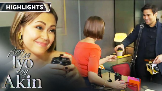Gabriel brings a coffee for Marissa | Ang Sa Iyo Ay Akin