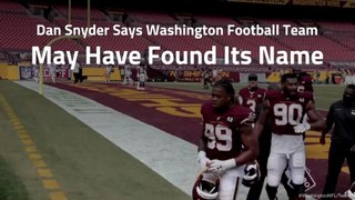 Washington Football Team Almost Has A Name