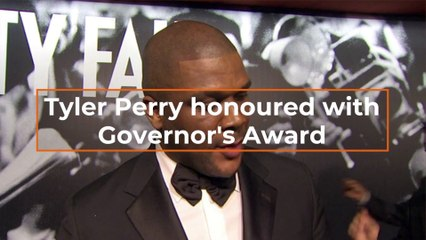 Tyler Perry Gets The Governor's Award