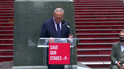 LIVE - Schumer pushes for federal funds to save Broadway.f137