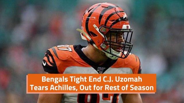 C.J. Uzomah Tears Achilles