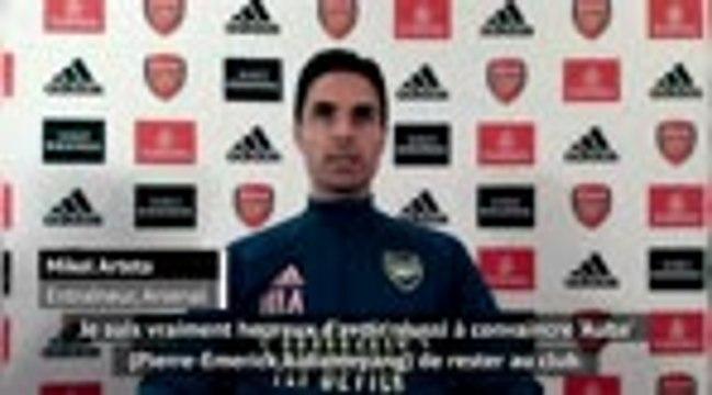 "Arsenal - Arteta : ""Heureux d'avoir convaincu Aubameyang de rester"""