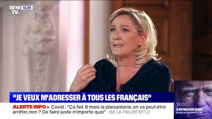 """Marine Le Pen: """"Je ne m'adresse pas qu'aux gens de droite, je veux m'adresser à tous les Français"""""""