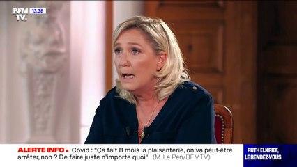 """Insécurité: Marine Le Pen répond à Gérald Darmanin et assume de ne pas voter les textes """"nuls et inefficaces"""" du gouvernement"""