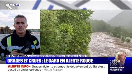 Le département du Gard en vigilance rouge pluies-inondations et crues