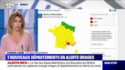 Orages: 3 nouveaux départements en vigilance orange, le Var, les Alpes-Maritimes et les Bouches-du-Rhône