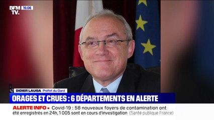 """Didier Lauga, préfet du Gard: """"nous sommes entre deux vagues, dans une phase d'accalmie, ce qui nous inquiète c'est ce qui nous attend dans la soirée"""""""