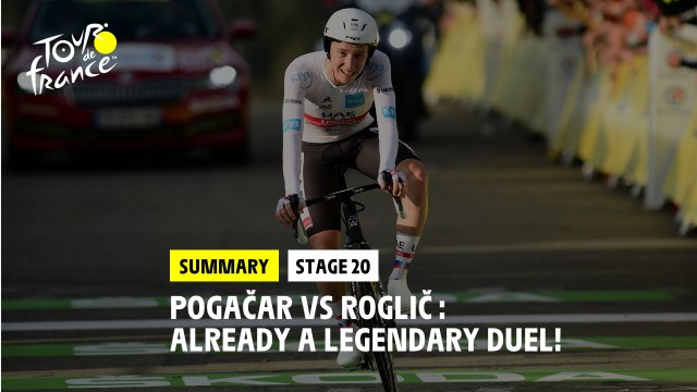 #TDF2020 - Stage 20 - Pogačar vs Roglič : Already a legendary duel!