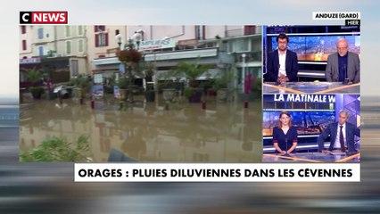 Orages  et  pluies diluviennes dans les Cévennes : les images incroyables