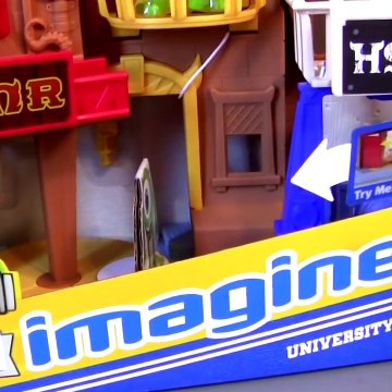 Monsters University Row Playset Imaginext Sorority House Disney Pixar Monsters Inc 2 toy review