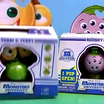 Monsters University Squishy Terri & Terry Roll a Scare Monster Disney Pixar Monster Inc 2 Toys