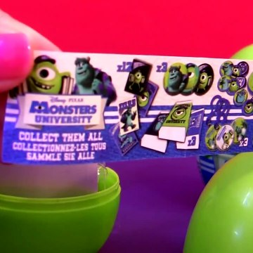 Monsters University SURPRISE Eggs Pixar Monsters Inc. by Funtoys Awesome Disney Toy Review