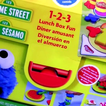 Play Doh Chef Cookie Monster Eats Pizza Lunch Box 123 Mold 'n Go Speedway Playdough Mater Cars Pixar