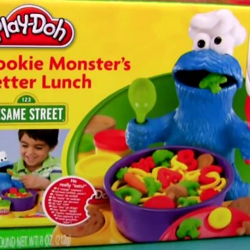 Play Doh Chef Cookie Monster Letter Lunch Learn ABC with Cookie Monster