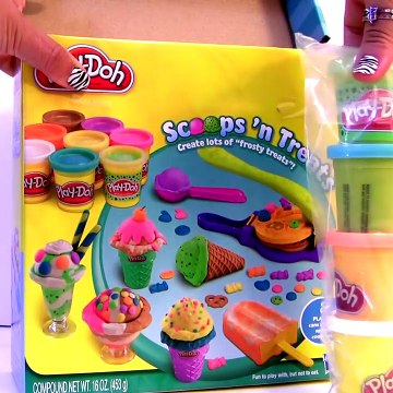 Play doh Scoops 'n Treats DIY Ice Cream Cones, Popsicles, Sundaes, Waffles