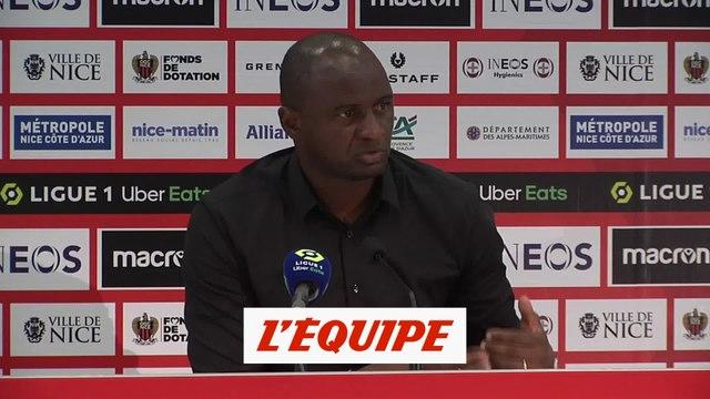 Vieira : «On les a un peu trop respectés...» - Foot - L1 - Nice