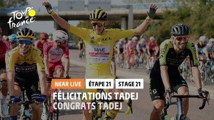 #TDF2020 - Étape 21 / Stage 21 - Félicitations Tadej / Congrats Tadej