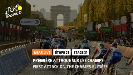 #TDF2020 - Étape 21 / Stage 21 - Première attaque sur les Champs / First attack on the Champs-Elysées