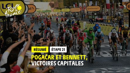 #TDF2020 - Étape 21 - Pogacar et Bennett, victoires capitales