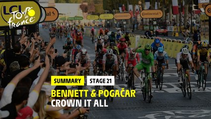 #TDF2020 - Stage 21 - Bennett & Pogacar crown it all