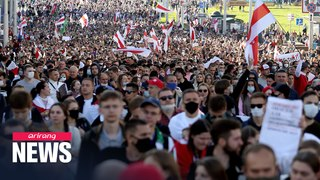 Tens of thousands march through Minsk in protest against Lukashenko