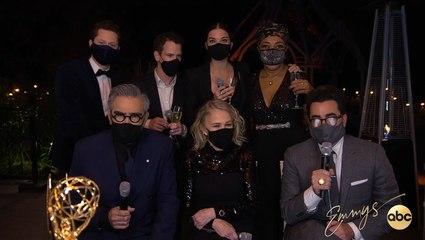 The Cast & Creators of Schitt's Creek's Emmy Press Conference