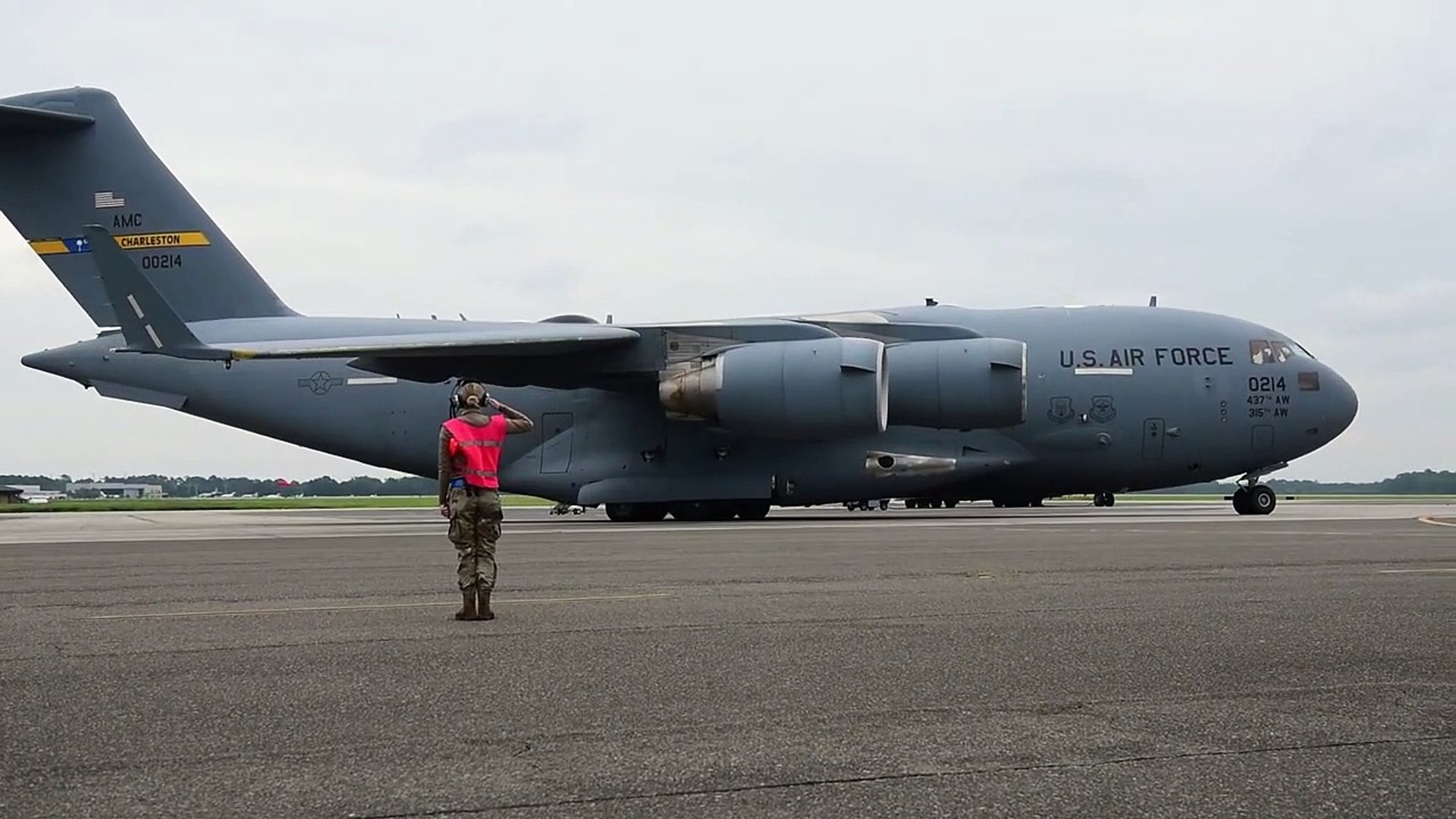 U.S Air Force • C-17s Taxiing and Taking Off from Joint Base Charleston, SC • Sep 19 – 2030