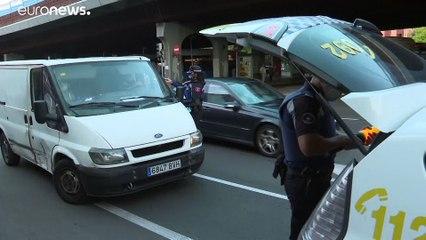 Despliegue policial en Madrid para imponer las restricciones a la movilidad