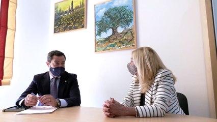 Moreno reafirma el compromiso del Gobierno andaluz con los municipios de interior