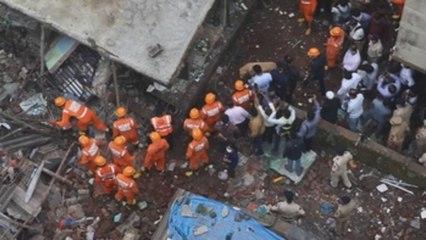 Al menos 8 muertos y unos 20 atrapados tras derrumbe de un edificio en India