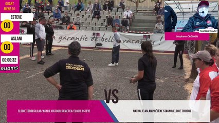 Quart ESTEVE vs ASLANI : National à pétanque féminin de RUOMS septembre 2020