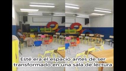 Sala de lectura en el colegio España