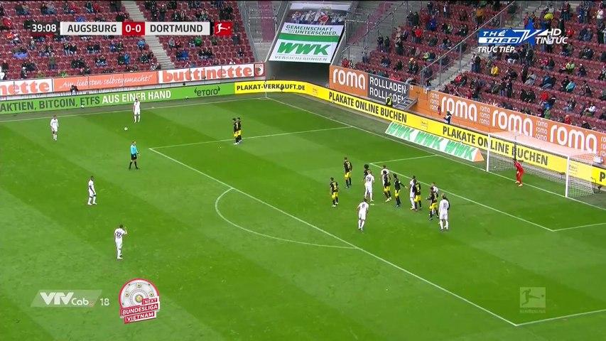 Highlights Augsburg - Borussia Dortmund - Haaland, Sancho bất lực - Vòng 2 Bundesliga 2020-21