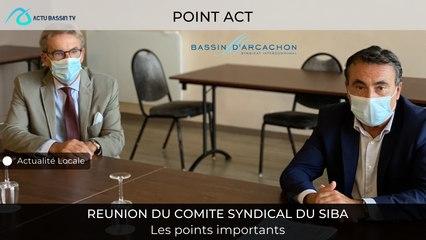 POINT ACTU : REUNION DU COMITE SYNDICAL DU SIBA