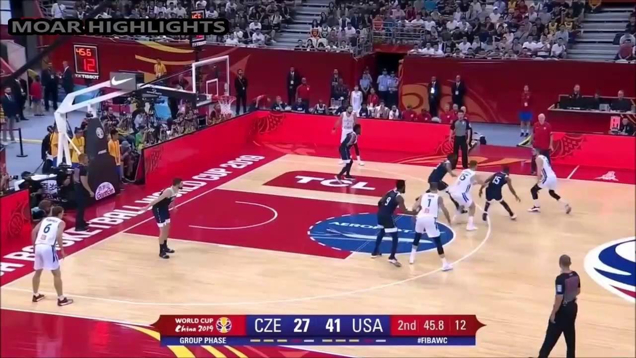USA vs Czech Republic Full Game Highlights 1st September 2019 (1st Round FIBA World Cup 2019)