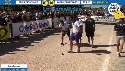 Cadrage FELTAIN vs AMADEI : Mondial la Marseillaise à pétanque 2020 - 31 août