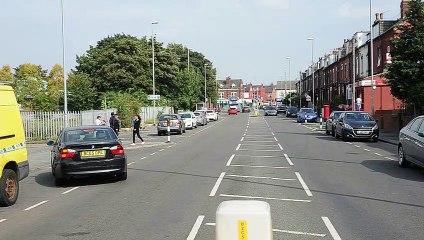 Police cordon on Compton Road, Harehills (Video: Tony Johnson)