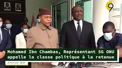 Côte d'Ivoire   Mohamed Ibn Chambas, à sa sortie d'audience avec le Premier ministre Hamed Bakayoko