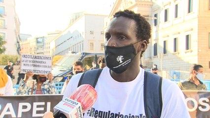 Sindicato Manteros Barcelona pide regularización de personas migrantes