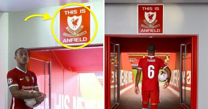 """Pourquoi Thiago Alcantara a refusé de toucher le logo """"This is Anfield"""""""