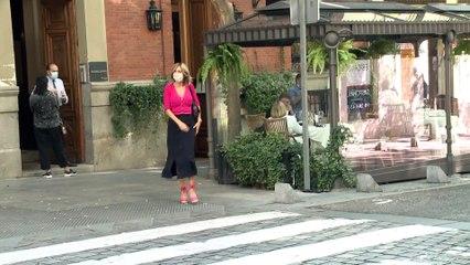 Así 'desfila' con elegancia Susanna Griso por las calles de Madrid
