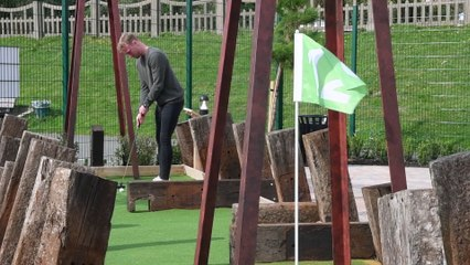 New adventure golf course at Fairhaven Lake