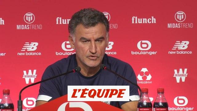 Galtier : «Le match contre Nantes sera très important» - Foot - L1 - Lille