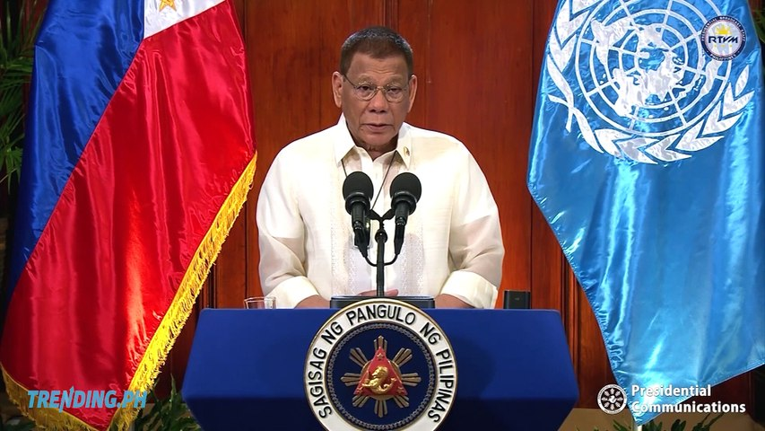 President Duterte's Speech at 75th Session of the United Nations General Assembly