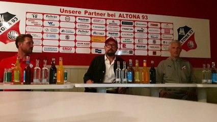 Altona 93 feiert den ersten Saisonsieg - die PK im Video