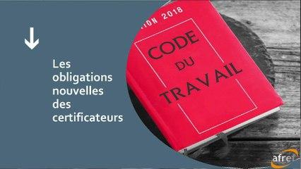 AFREF jeudi 17 09 2020 La nouvelle organisation de la certification 2. Eléments juridiques