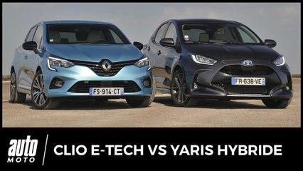 Essai Renault Clio Hybride vs Toyota Yaris Hybride : citadines sans fil