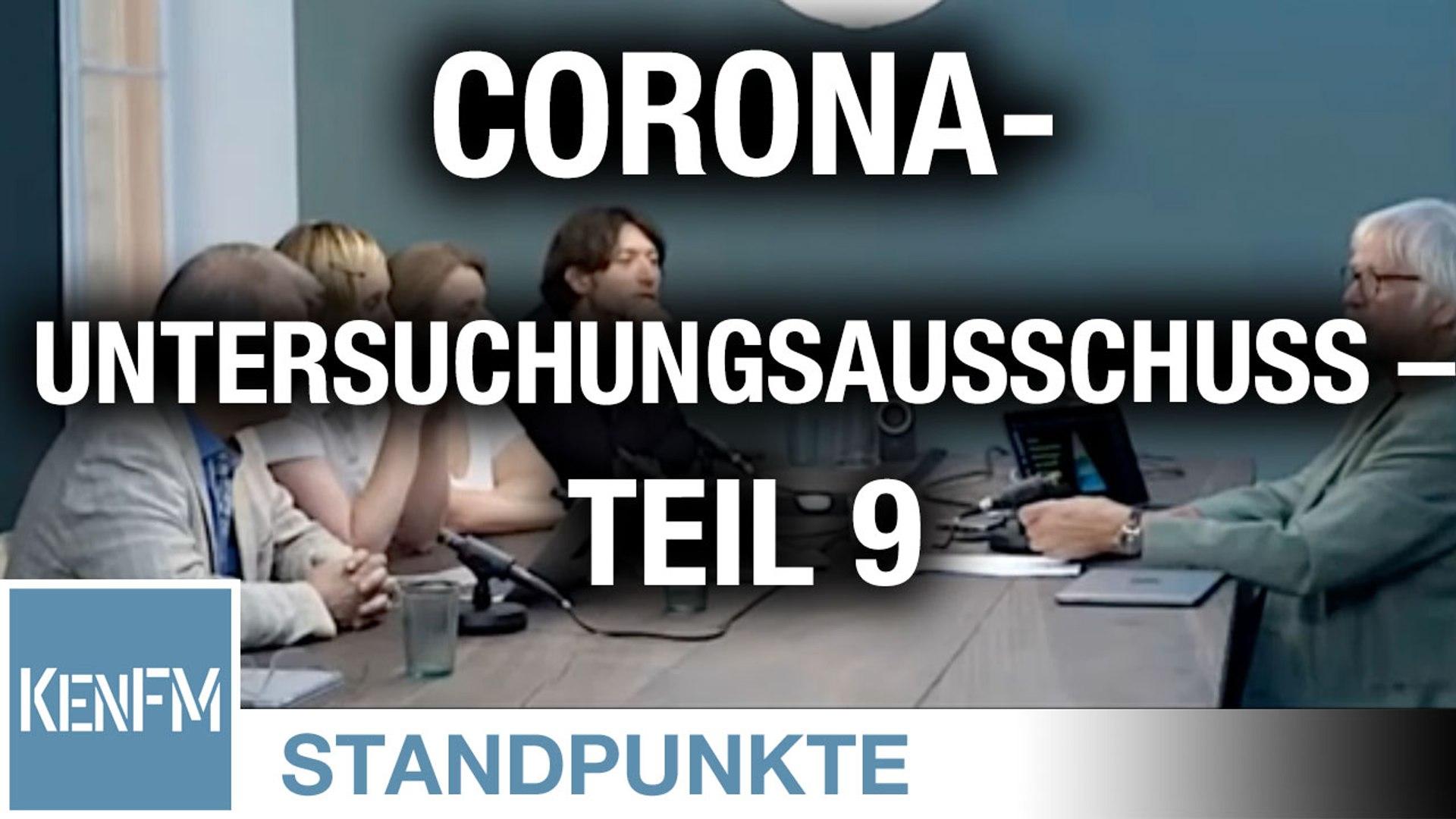 Corona-Untersuchungsausschuss – Teil 9 | Von Jochen Mitschka